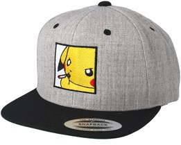 Poke Smoke Grey/Black Snapback - BOOM