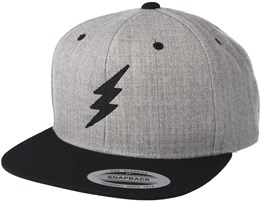 Bolt Heather Grey/Black Snapback - Rave