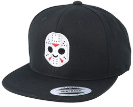 Emoji Hockey Mask Black Snapback - Iconic