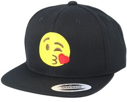 Emoji Kiss Black Snapback - Iconic