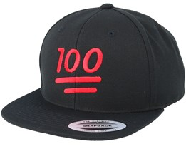 Emoji 100 Black Snapback - Iconic