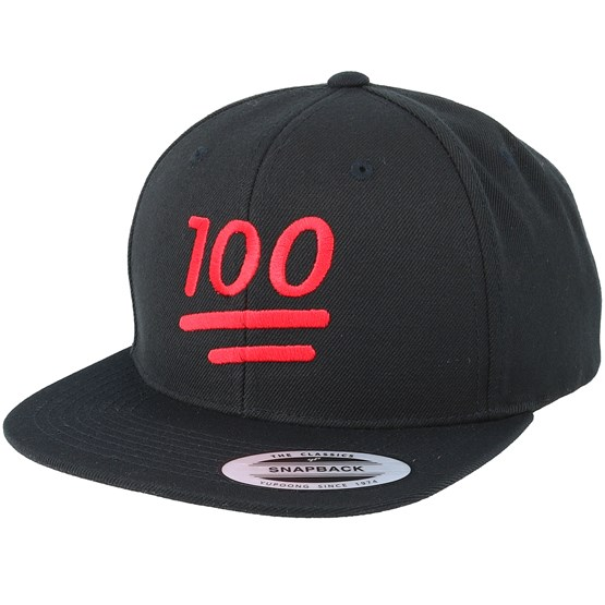 emoji 100 black snapback iconic cap. Black Bedroom Furniture Sets. Home Design Ideas
