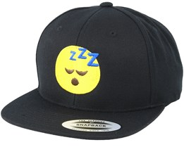 Emoji Sleeping Black Snapback - Iconic
