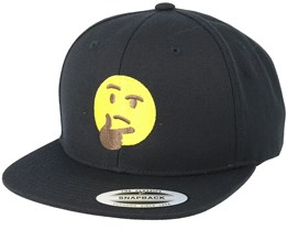 Emoji Thinking Black Snapback - Iconic