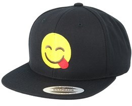 Emoji Tongue Black Snapback - Iconic