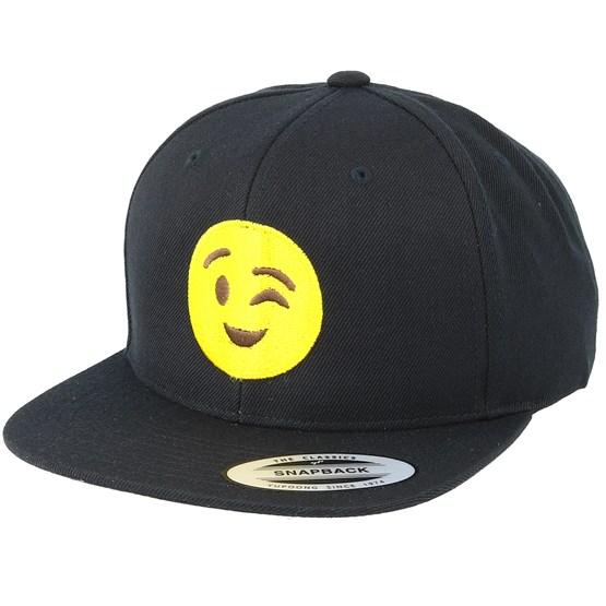 Emoji Wink Black Snapback - Iconic lippis - Hatstore.fi 060adfc66b