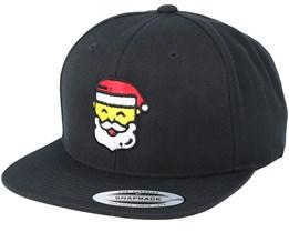 Emoji Santa Claus Black Snapback - Iconic