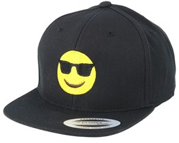 Kids Emoji Cool Black Snapback - Iconic
