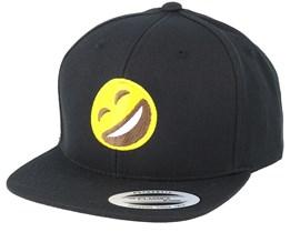 Kids Emoji Laughing Black Snapback - Iconic