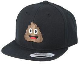 Kids Emoji Poo Black Snapback - Iconic
