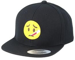 Kids Emoji Sick Black Snapback - Iconic