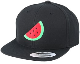 Kids Emoji Watermelon Black Snapback - Iconic