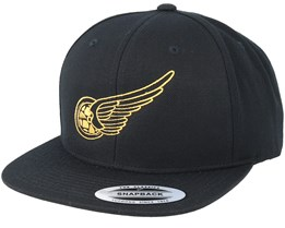 Rolling Wings Black Snapback - Born To Ride