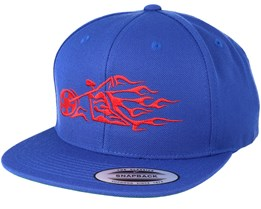 Flamebike Royal Blue Snapback - Born To Ride