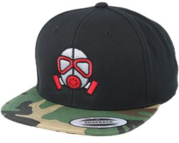 Gas Mask Black/Camo Snapback - Gamerz