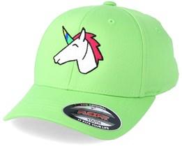 Kids Unicorn Lime Green Flexfit - Unicorns