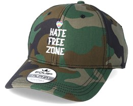 Hate Free Zone Camo Adjustable - Pride