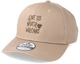Love Is Never Wrong Beige/Brown Adjustable - Pride