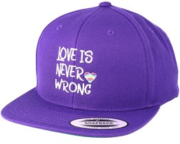 Love Is Never Wrong Purple Snapback - Pride