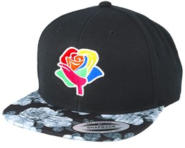 Rose Black/Floral Grey Snapback - Pride