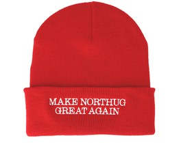 "Make Northug Great Again ""Kläbo"" Red Beanie - Iconic"