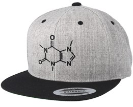 Caffeine Molecule Grey/Black Snapback - Iconic